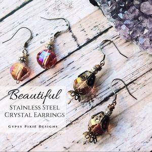 Crystal Earrings Set